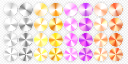 Set of Conic gradients on a transparent background. Vector illustration.