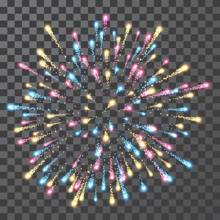 Fireworks. Festival colorful firework. Vector llustration on transparent background. 일러스트