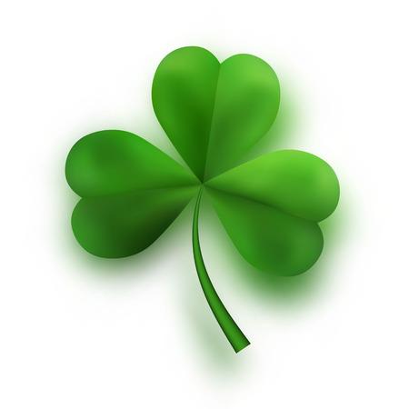 Green Tree Leaf Clovers. Irish Lucky and success symbols. Vector illustration. Illustration