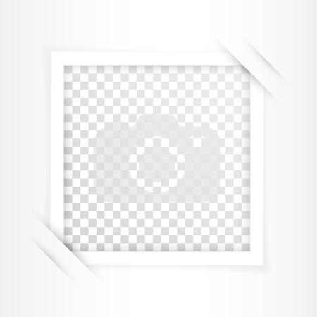 Retro photo frame with shadows. Vector illustration. Illustration