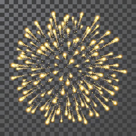 Fireworks. Festival colorful firework. Vector llustration on transparent background. Illustration