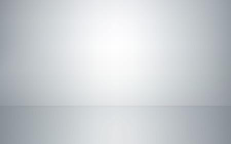 Leerer Studiorauminnenraum. Weißer Wand- und Bodenhintergrund. Saubere Werkstatt für Fotografie oder Präsentation. Vektor-Illustration.