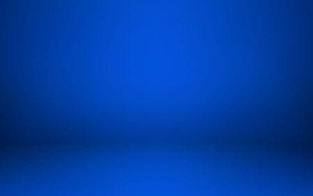 Empty blue studio room interior. Clean workshop for photography or presentation. Vector illustration.