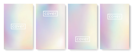 Bright color background with mesh gradient texture for brochure, leaflet, flyer, cover, catalog. Blue, pink, yellow, green placard poster template. Vector illustration.