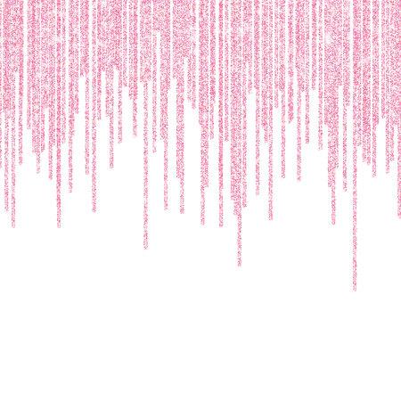 Pink glitter sparkle on a transparent background. Rose Gold Vibrant background with twinkle lights. Vector illustration. Illustration