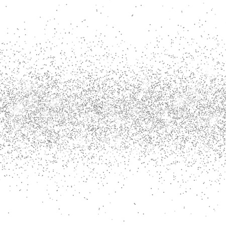 Silver glitter sparkle on a transparent background. Silver Vibrant background with twinkle lights. Vector illustration.