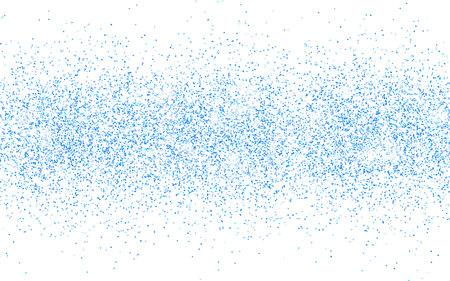 Blue glitter sparkle on a transparent background. Blue vibrant background with twinkle lights. Vector illustration.