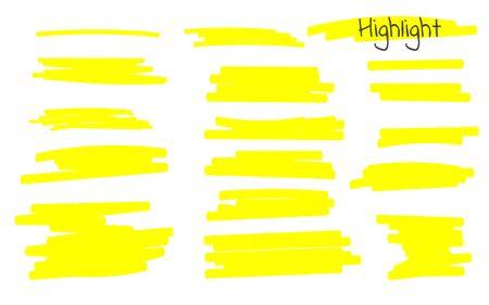 Marker lines. Vector highlighter brush lines. Hand drawing. Vector illustration. 矢量图片