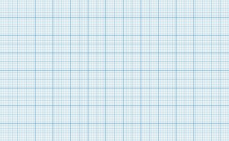 Millimeter grid. Square graph paper background. Seamless pattern. Vector illustration.