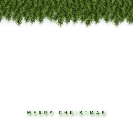 Festive Christmas or New Year Background. Christmas Fir-Tree Branches. Holidays Background. Vector illustration. Ilustracja