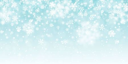 Christmas snow. Falling snowflakes on transparent background. Snowfall. Vector illustration. Çizim