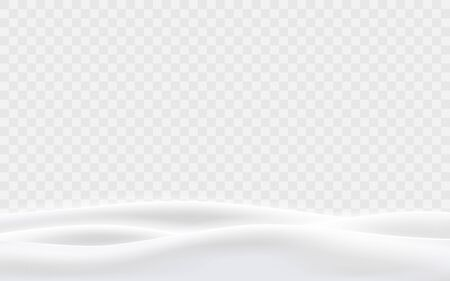 Snowy hills winter background. Landscape with snow covered hills. Vector illustration. Illustration