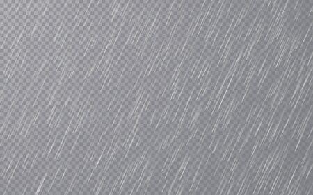 Rain drops on transparent background. Falling water drops. Nature rainfall. Vector illustration. Archivio Fotografico - 139289393