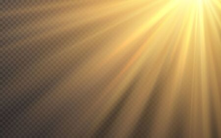 Sunlight special lens flash light effect on transparent background. Effect of blurring light. Vector Illustration. Archivio Fotografico - 139289397