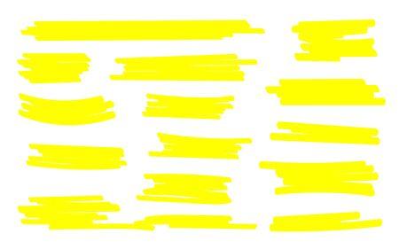 Marker lines. Vector highlighter brush lines. Hand drawing. Vector illustration. Archivio Fotografico - 139219759