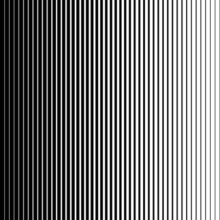 Vertical speed line halftone pattern thick to thin. Vector illustration. Ilustracja