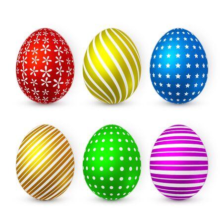 Color Easter egg on white background. Easter egg for Your design. Vector illustration.