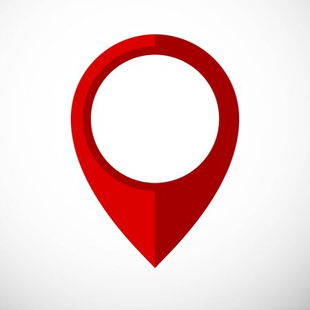 Map pointer icon in flat style. Navigator symbol isolated on white background. Vector illustration.