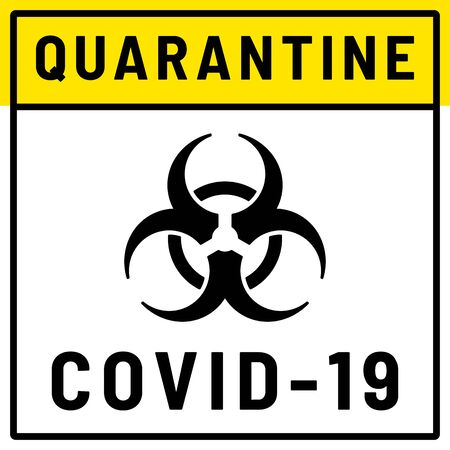 Biohazard sign on white background. Concept of epidemic virus and quarantine. Coronavirus Covid-19, 2019-nKoV concept. Vector illustration. Ilustracja