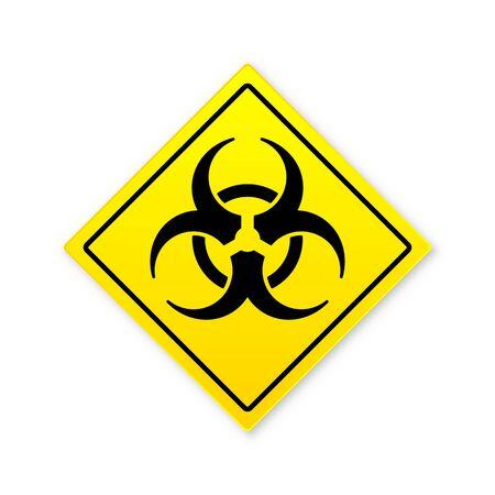 Biohazard sign on white background. Concept of epidemic virus and quarantine. Vector illustration.