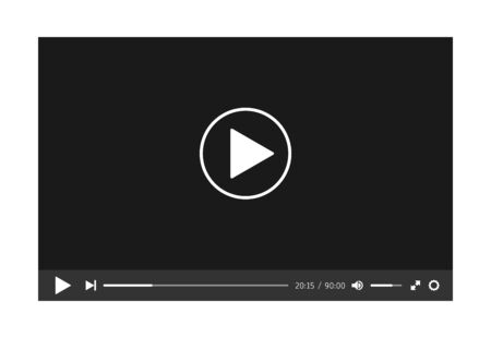 Video player template for web or mobile apps. Vector illustration. Zdjęcie Seryjne - 145553160
