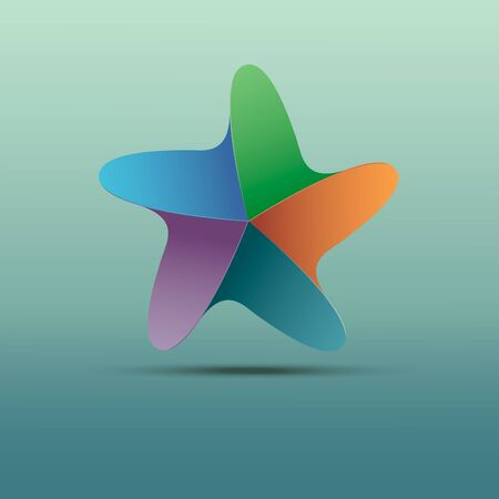 Beauty abstract stylized colorful of starfish Illustration