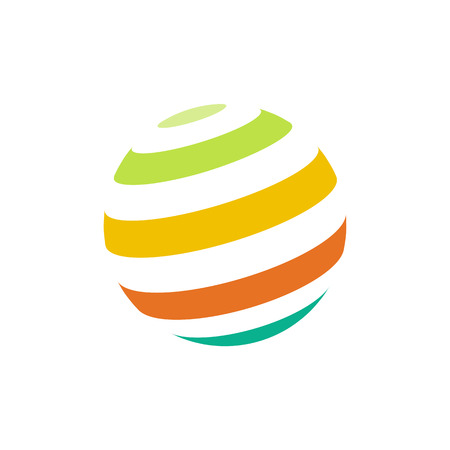 globe logo: Abstract colorful sphere logo
