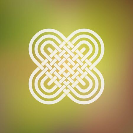 celtic: Isolated abstract simmetric icon in Celtic and ethnic style. Stylized two hearts in the traditional Viking style. Illustration
