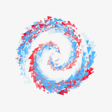 Beautiful swirl triangles symbolizes the mixing of cold and warm.