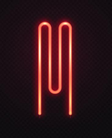 Abstraktes Heizelement für Waschmaschine. Rotes Neonlogo auf transparenter dunkler Hintergrundvektorillustration