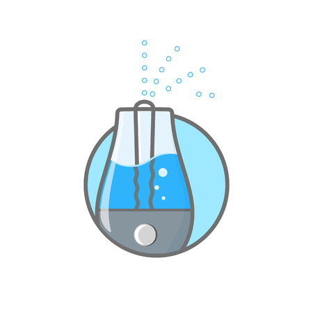 Humidifier air outline icon vector illustration. Logo of climatic equipment for health Иллюстрация