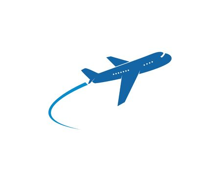 Isolated commercial airplane flight leaving a vapor trail vector illustration Çizim