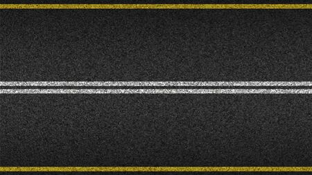 Asphalt highway textured vector background. Paved road with a dividing stripes 写真素材