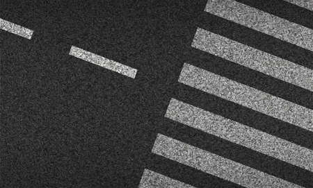 Asphalt and Crosswalk top view vector illustration. Safety driving and movement