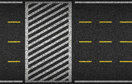 Asphalt road and Crosswalk top view vector illustration. Safety driving and movement