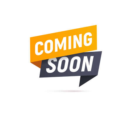 Coming soon isolated vector icon paper style. Promotion sign. Start a new business design element