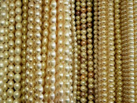 resplendence: pearl beads background Stock Photo