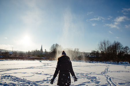 children at play: Children play in the snow