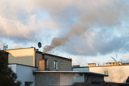 smog with chimney