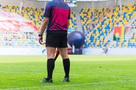 The match referee at the stadium