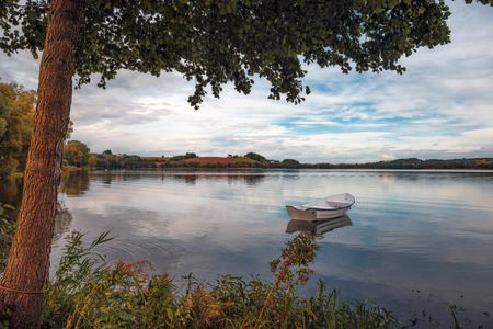 autumn landscape at the lake