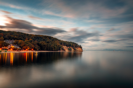 A view of the cliff in Gdynia Or?owo in the evening