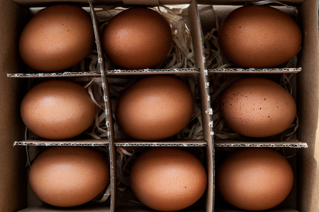 Organic eggs palette