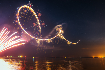 pyrotechnic show in Gdynia