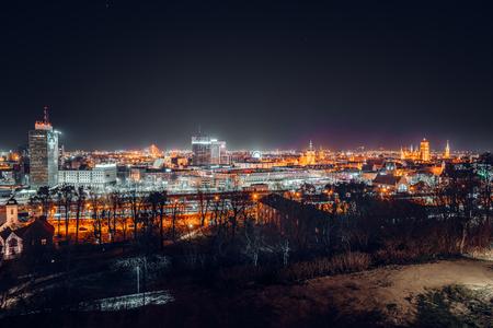 Panorama of Gdansk view from Gradowa Mountain Stock Photo