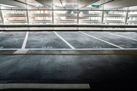 free parking spaces in a multi-storey car park