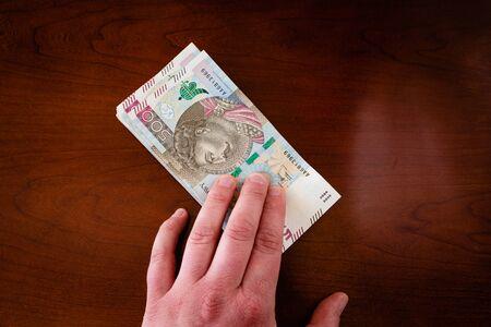 Money in 500 PLN banknotes in your hands Reklamní fotografie