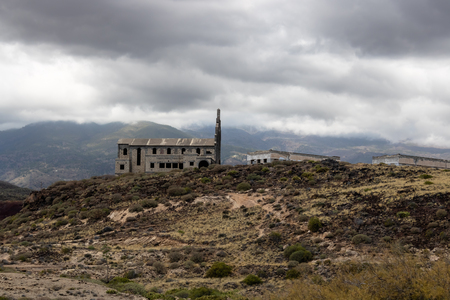 Ghost town church view (Pueblo fantasma de Abades), Tenerife, Canary islands, Spain - Image