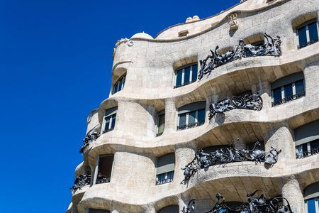 Casa Milà (La Pedrera) in Barcelona, Spain - Image Editorial