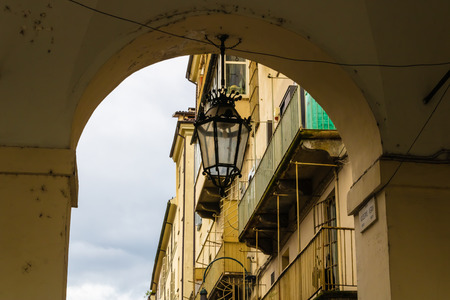 Turin street view with the street lamp, Torino, Italy - Image